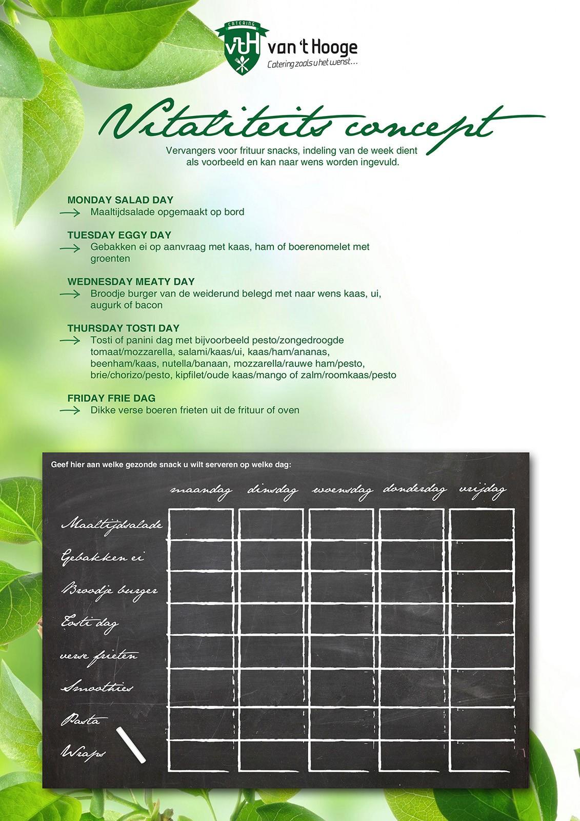 Catering van 't Hooge foodconcepten vitaliteit