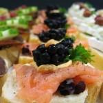 Canapés Catering van 't Hooge productpresentatie