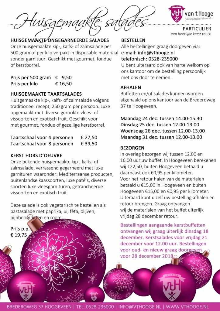 kerst particulier flyer huisgemaakte salades Catering van 't Hooge