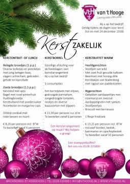 kerst zakelijk Catering van 't Hooge